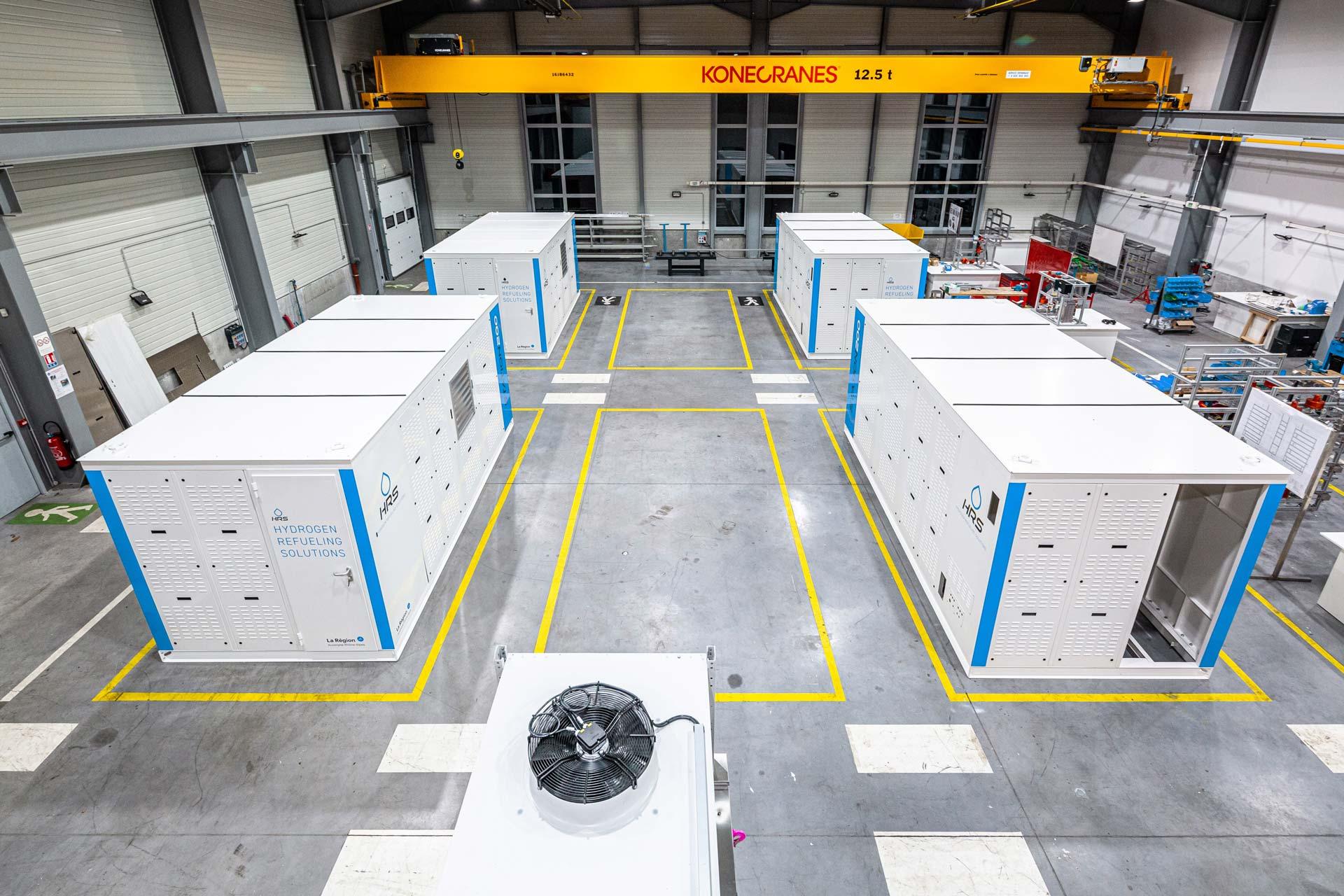 Usine de production de stations hydrogène en série