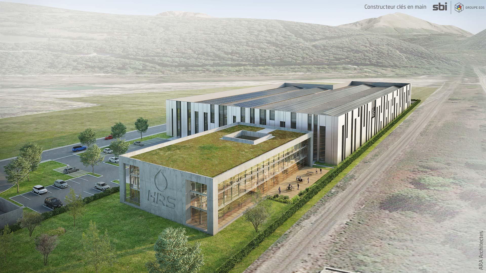 Nouvelle usine HRS à Champagnier en Isère - 38 - France